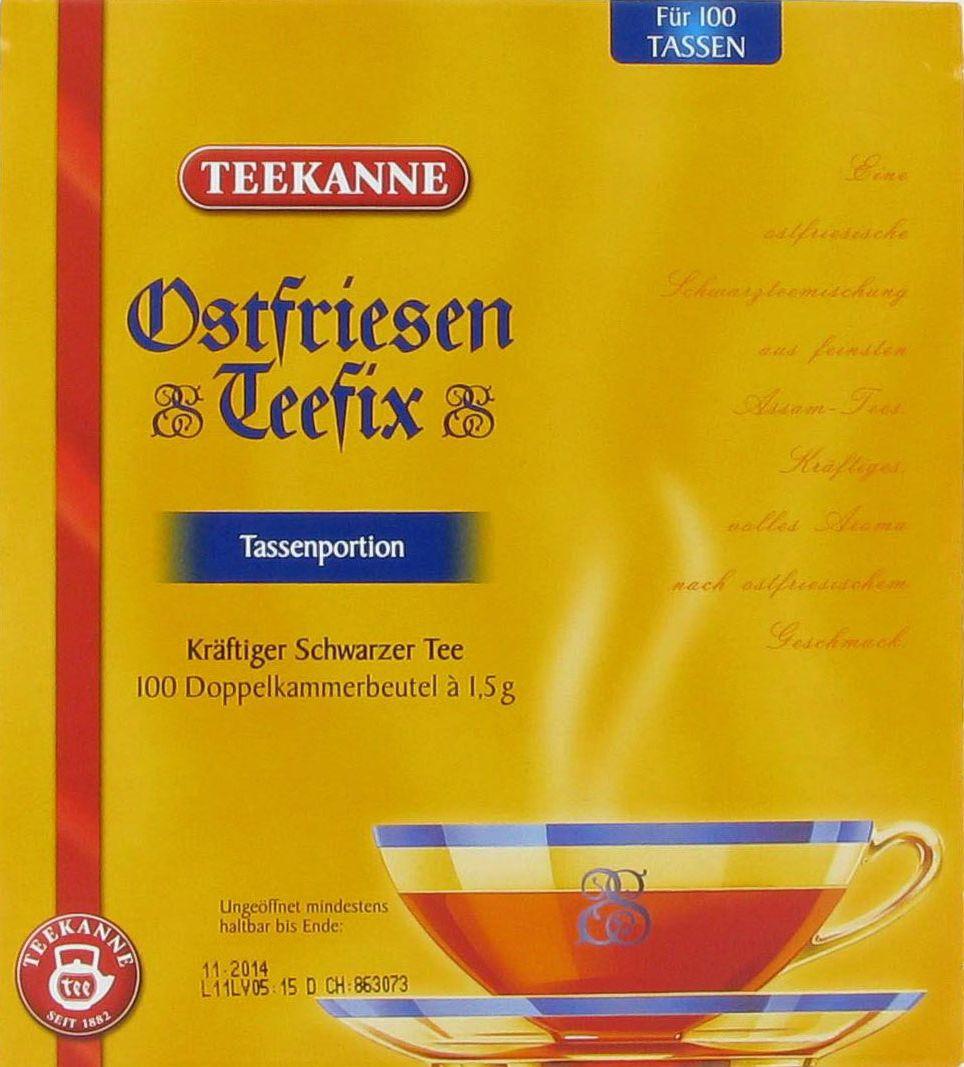 Ostfriesentee Teekanne 100 Teebeutel