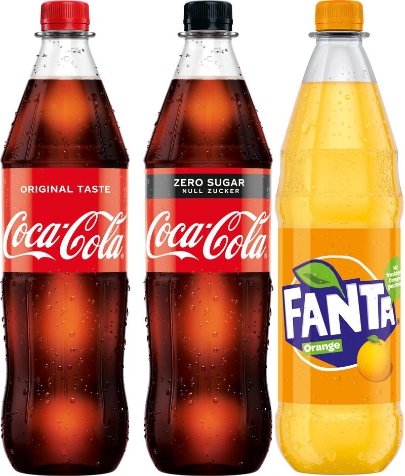 Coca Cola, Fanta, Sprite 12/1,0 PET