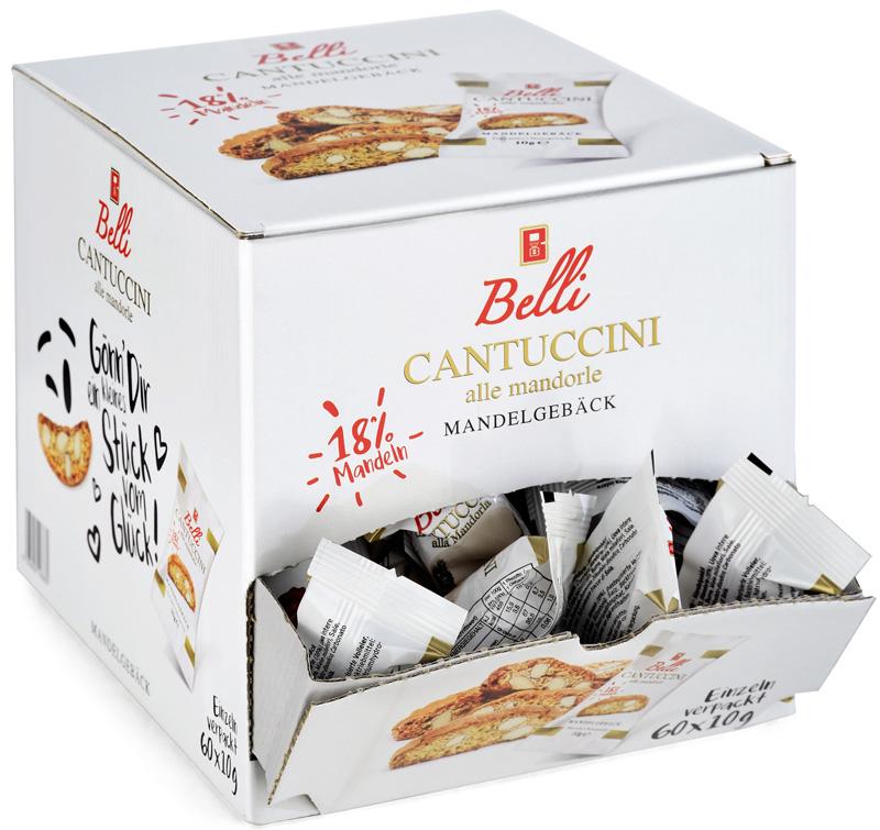 Cantuccini 60 Stück einzeln verpackt