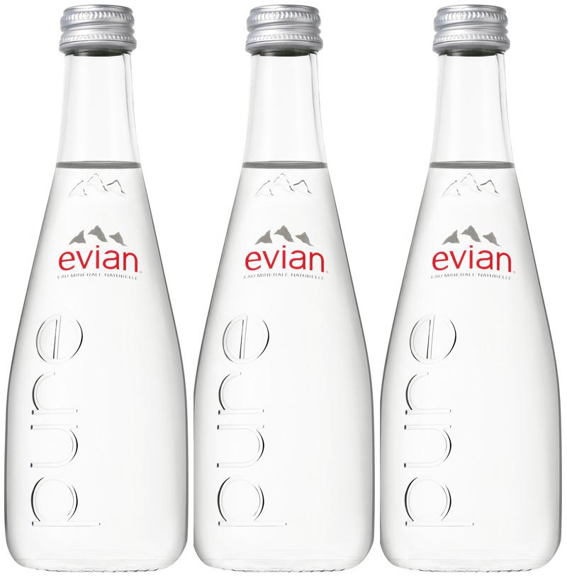 Evian 20/0,33 Glas