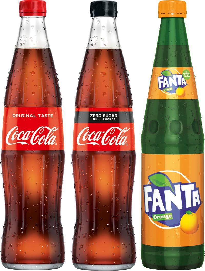 Coca Cola, Fanta, Sprite...20/0,4L GLAS
